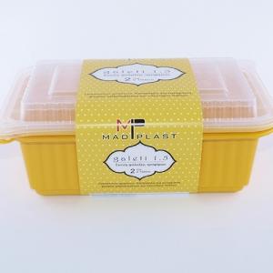 Φαγητοδοχείο Galeti 3τεμ 1,5 lt Κίτρινο Δοχείο Κατάλληλο Επαγγελματική Χρήση 3τεμ Χ30 Σετ/Κιβώτιο 15Κιβ./Παλέτα