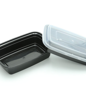 Μπολ Τροφίμων Οβάλ Παραλληλόγραμμο Μαύρο 1000ml Ιδανικό Για Delivery 150 σετ/Κιβώτιο