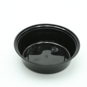 Food Bowl Round Black 700ml Ideal For Delivery 150 sets / box