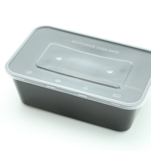 Food Bowl Parallel Black 1000ml Ideal For Delivery 300 sets / box