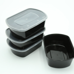 Food Bowl Oval Black 750ml Ideal For Delivery 300 sets / Box