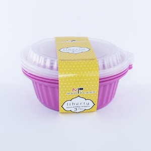 Meal Prep Containers Liberty Purple Freezer and Dishwasher Free 3Σετ1lt 3 x24 Set/Box 20Box./Palette