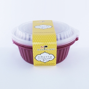 Meal Prep Containers Liberty Bordeaux Freezer and Dishwasher Free 3Set 1lt 3x24 Set/Box 20Box./Palette