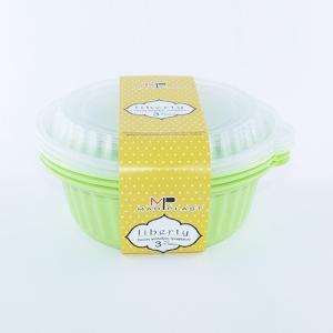 Φαγητοδοχείο Liberty Λαχανί Κατάλληλο για Πλυντήριο Πιάτων 3τεμ 1lt 3τεμ Χ24 Σετ/Κιβώτιο 20Κιβ./Παλέτα